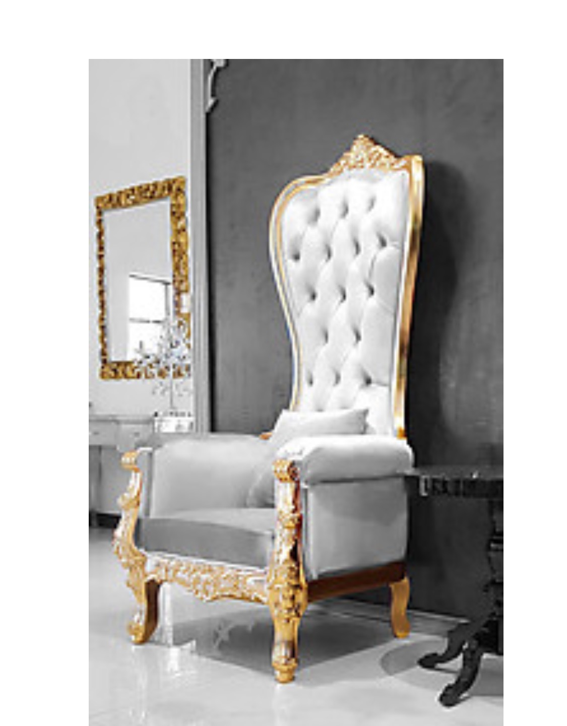 Luxury Wedding Event lounge Furniture King and Queen Throne Chairs Bridal and Shower Chairs